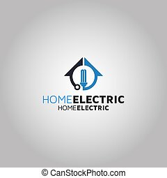 Home Electric Vector logo design template idea and inspiration