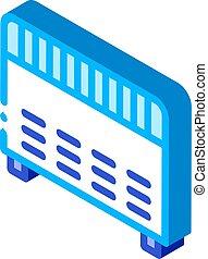 Home Electronic Heating Equipment isometric icon