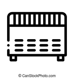 Home Electronic Heating Equipment Vector Icon