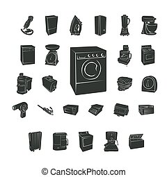 home electronic silhouette. Vector Illustration.. Collection set