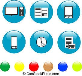 Home electronics and equipment icons