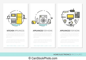 Home Electronics Appliances Business Brochures
