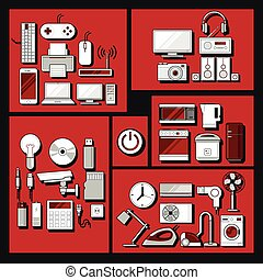Home electronics appliances set