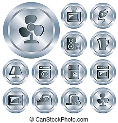 Home electronics buttons