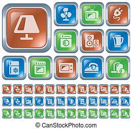 Home Electronics Buttons Button Set Clipart
