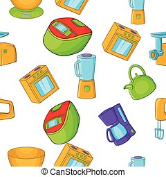Home electronics pattern, cartoon style