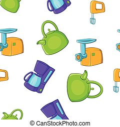 Home electronics pattern, cartoon style
