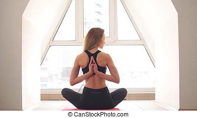 home., elmélkedés, nő, jóga