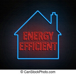 Home energy efficiency concept.