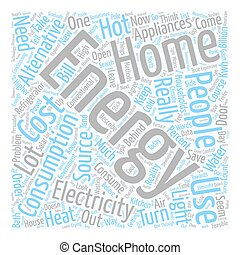 home Energy l text background wordcloud concept