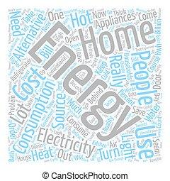 home Energy l text background wordcloud concept
