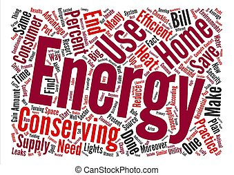 home energy ll text background word cloud concept