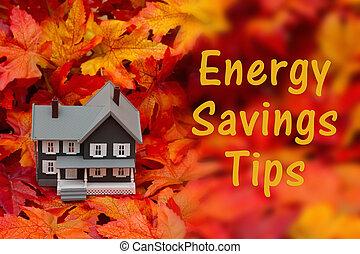 Home energy savings tips in the fall season