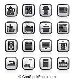home equipment icons - vector icon set