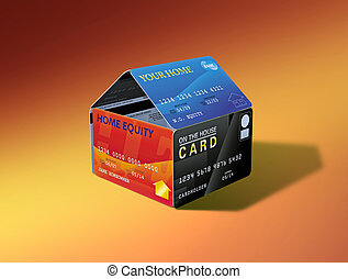 Home Equity House of Cards - House made of credit cards