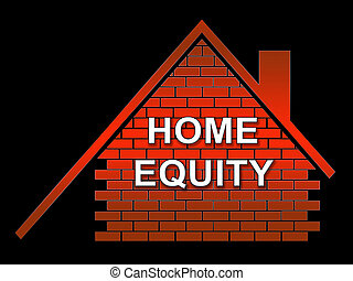 Home Equity Icon Symbol Represents Property Loan Or Line Of Credit - 3d Illustration