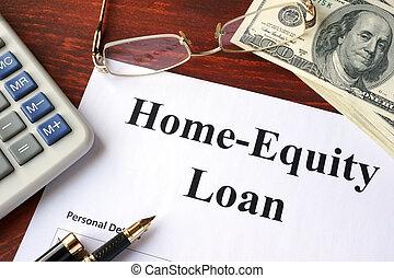 home-equity, kölcsönad forma