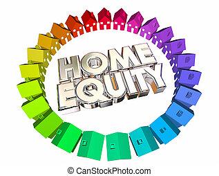 Home Equity Mortgage Value Asset Balance 3d Illustration