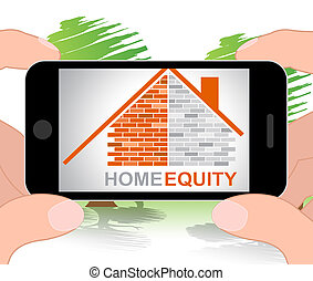 Home Equity Represents Property Value 3d Illustration