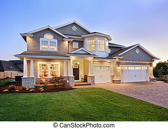 Home Exterior at Twilight