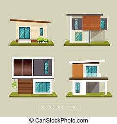 Home exterior modern design collections