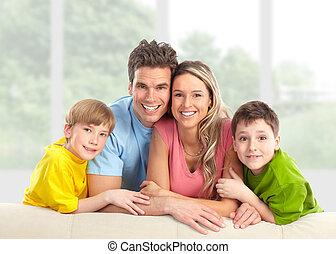 home., família, feliz