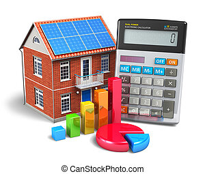 Home finances concept - Home finance concept: residential...