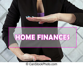 HOME FINANCES inscription on the screen.  Personal finance?is a term that covers managing your money as well as saving and investing