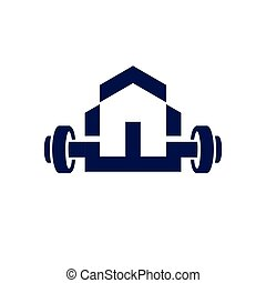 home fitness logo icon vector