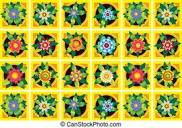 Home flowers raster image