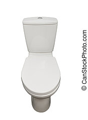 Home flush toilet isolated (clipping path)