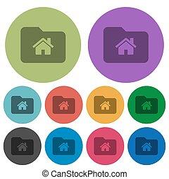 Home folder color darker flat icons