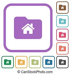 Home folder simple icons