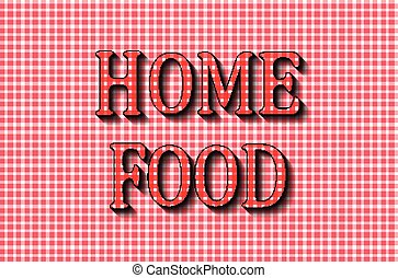 Home food. The cooking lettering design