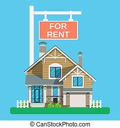 Home for rent icon. Real Estate concept,