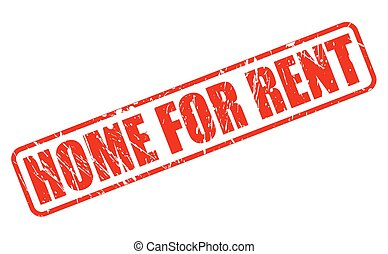 HOME FOR RENT RED STAMP TEXT