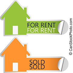 Home for rent stickers