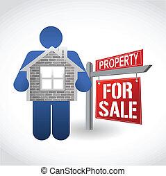home for sale illustration design