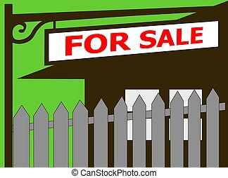 Home for sale real estate sign icon