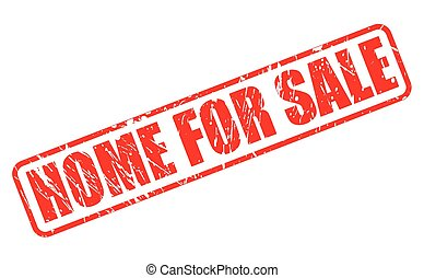 Home for sale red stamp text