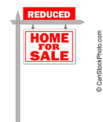 Home for sale reduce sign