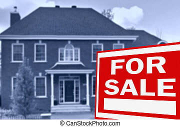 Home for sale. Sign