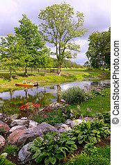 Home garden on a summer day