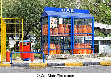 Home gas bottles