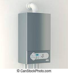 Home gas-fired boiler.