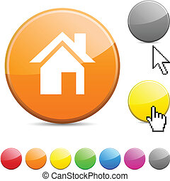 Home glossy button.