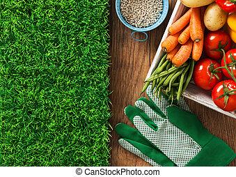 Home grown fresh vegetables