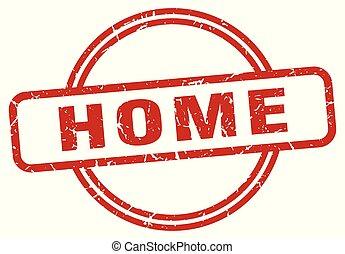 home grunge stamp