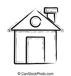 home hand drawn icon