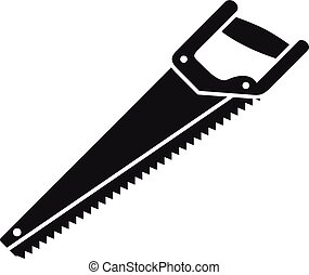 Home handsaw icon, simple style